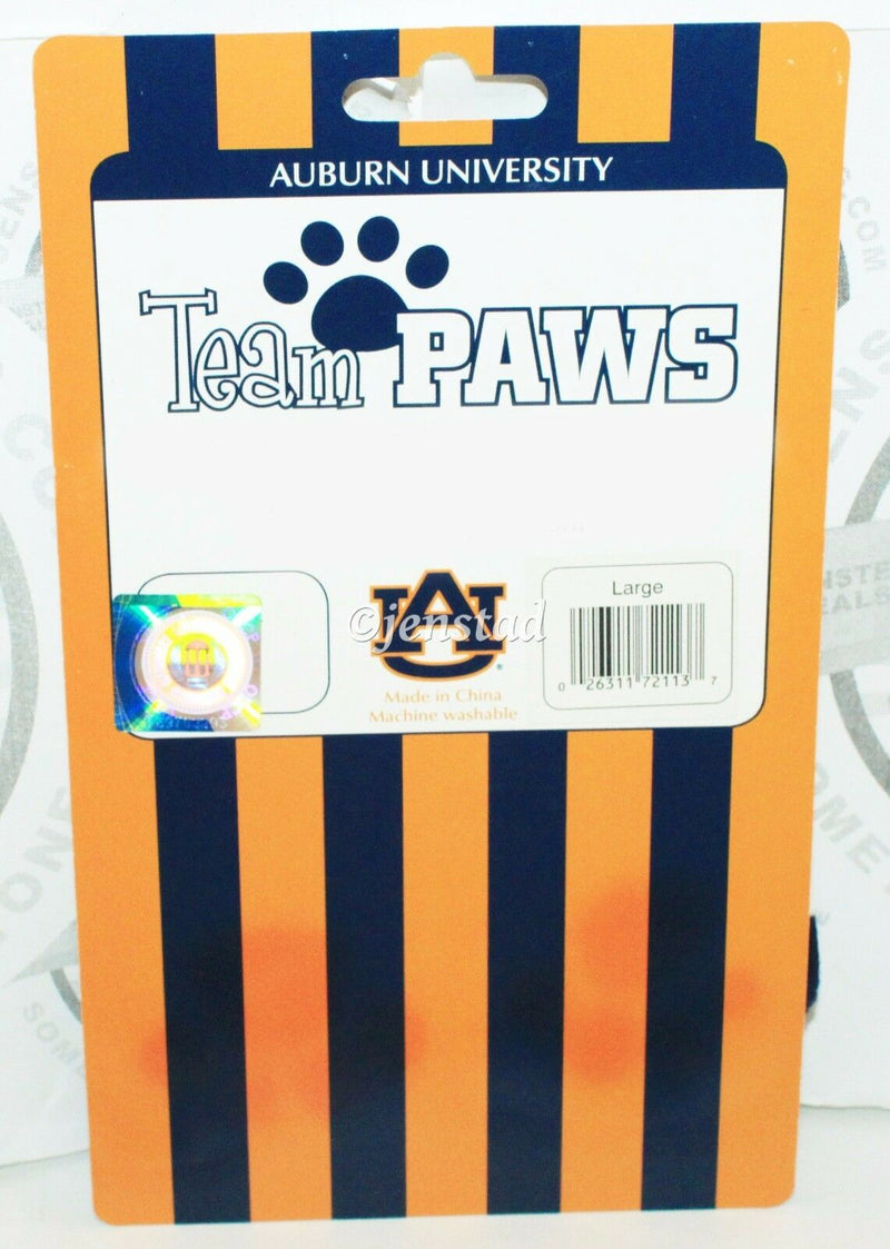 ONE PACK OF 4 DOG PET SOCKS - TEAM PAWS NCAA AUBURN UNIVERSITY LARGE NEW