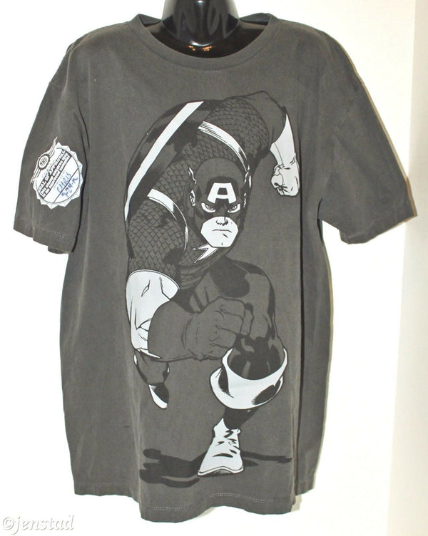 CAPTAIN AMERICA YOUTH BOY LARGE OR GIRL GREY SHIRT WOMAN SMALL RARE SAMPLE 2012