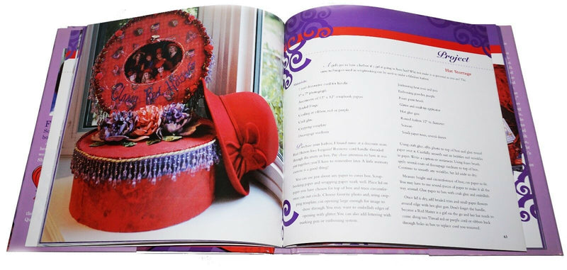 THE RED HAT SOCIETY WAY - DESIGNER SCRAPBOOKS HARDCOVER BOOK USED 2005 - EZ Monster Deals