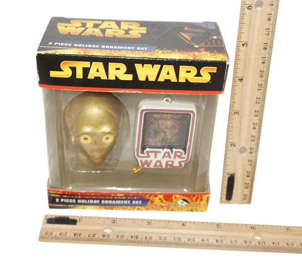 "2 PC - C3PO VINTAGE TOY DECOR - STAR WARS 2"" ORNAMENT FIGURE KURT ADLER NEW 2005 - EZ Monster Deals"