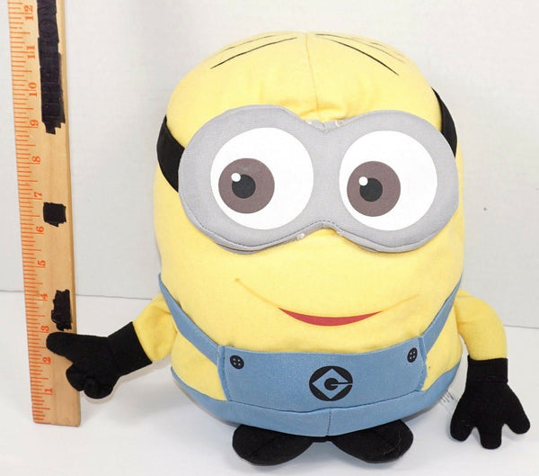 "DAVE - MINION DESPICABLE ME 2 PLUSH STUFFED ANIMAL 11"" TOY FIGURE USED"