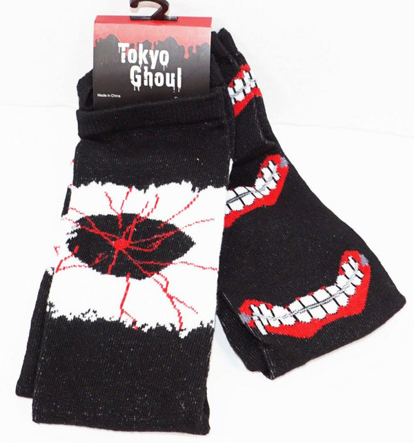 2 PC TOKYO GHOUL - ANIME APPAREL CREW SOCKS ADULT 6-12 NEW 2016 STYLE#3 - EZ Monster Deals