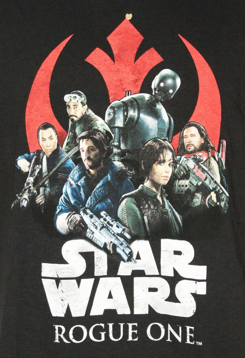 DISNEY STAR WARS ROGUE REBELS GROUP SHOT - MENS LARGE OR WOMEN BLACK SHIRT NEW-EZ Monster Deals