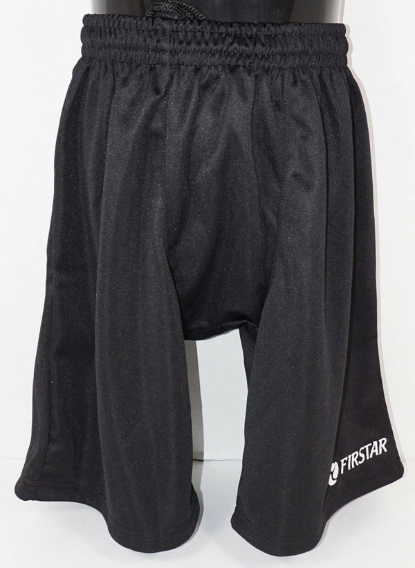 "FIRSTAR YOUTH XLARGE - LIGHTWEIGHT BLACK YXL HOCKEY SHORTS 27.5""-29.5"" NEW - EZ Monster Deals"