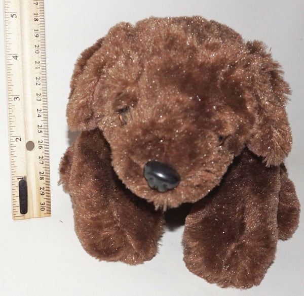 BARBIE DOG PLUSH TOY - BARK & SOUND W/ LIGHT-UP HEART DARK BROWN 2008 USED - EZ Monster Deals