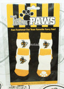 ONE PACK OF 4 DOG SOCKS & SQUEAK TOY - TEAM PAWS GEORGIA TECH UNIVERSITY SMALL-EZ Monster Deals