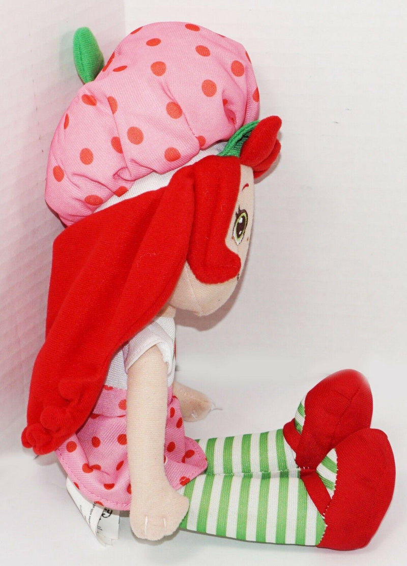 "STRAWBERRY SHORTCAKE PLUSH TOY - KELLYTOY 13"" STUFFED ANIMAL 2015 USED - EZ Monster Deals"