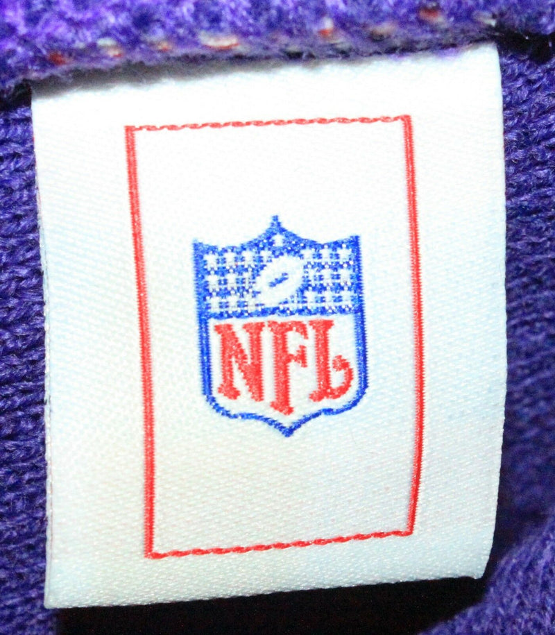 MINNESOTA VIKINGS NFL FOOTBALL REEBOK ONE SIZE PUR/YLW RIBBED NO CUFF BEANIE CAP - EZ Monster Deals