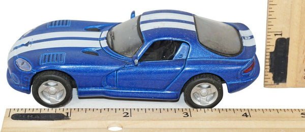 "DODGE VIPER GTS 1:39 - BLUE DIECAST CAR TOY 4"" VEHICLE MAISTO USED - EZ Monster Deals"