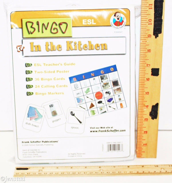 IN THE KITCHEN ESL BINGO FRANK SCHAFFER GAME KIT FUN FOR THE FAMILY & KIDS 2005-EZ Monster Deals