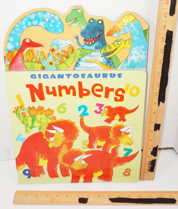 GIGANTOSAURUS NUMBERS - BIG BOARD BOOK LARGE FONT 2007 EDITION USED-EZ Monster Deals