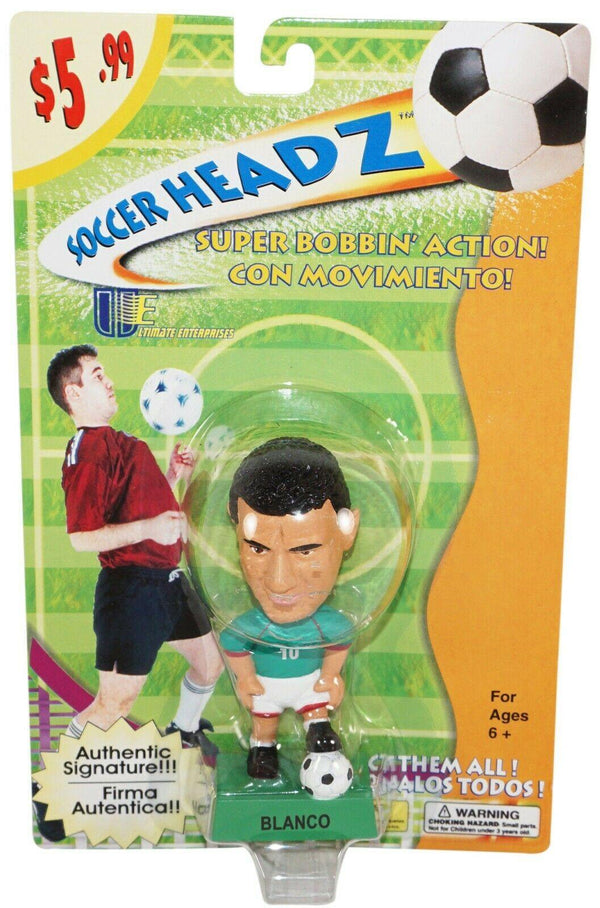 "CUAUHTÉMOC BLANCO FIGURINE SOCCER HEAD FÚTBOL TOY FIGURE 4"" BOBBLE HEAD 2002 NEW - EZ Monster Deals"