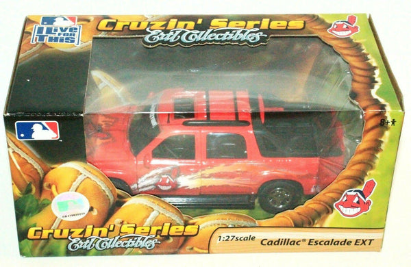CLEVELAND INDIANS MLB BASEBALL 1:27 DIECAST - CADILLAC ESCALADE TOY VEHICLE 2006 - EZ Monster Deals