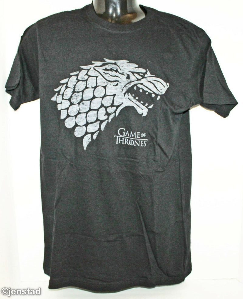 GAME OF THRONES WOLF T-SHIRT SMALL OFFICIAL HBO CLOTHING BLACK GRAPHIC TEE 2015 - EZ Monster Deals