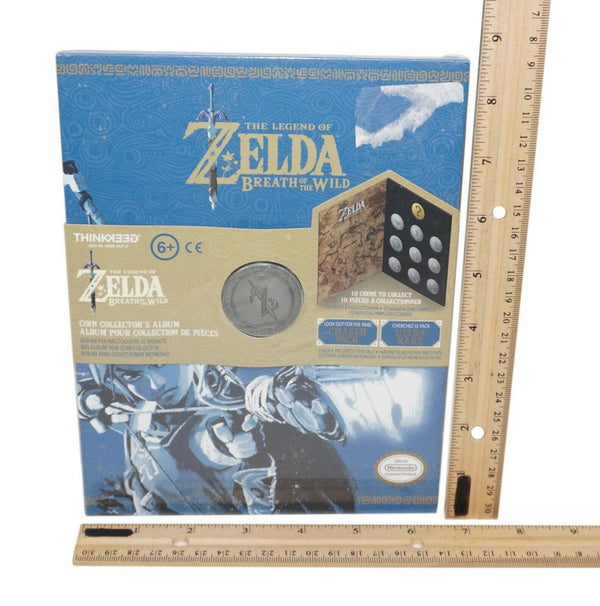 THINKGEEK - THE LEGEND OF ZELDA BREATH OF THE WILDE COIN COLLECTOR ALBUM 2018 - EZ Monster Deals