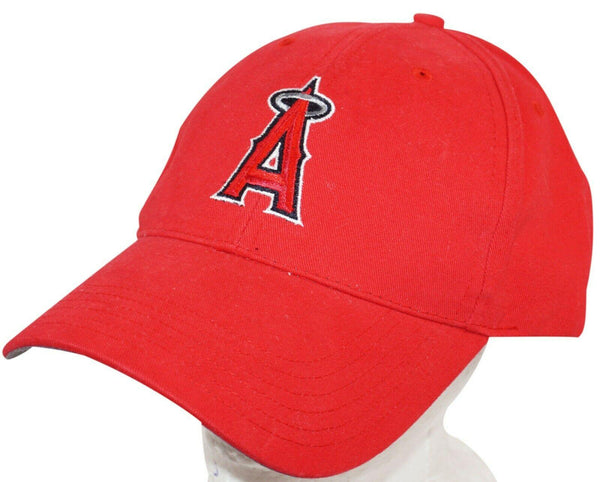 ANGELS MLB BASEBALL LOS ANGELES OR ANAHEIM FAN FAVORITE - ONE SIZE RED HAT USED - EZ Monster Deals