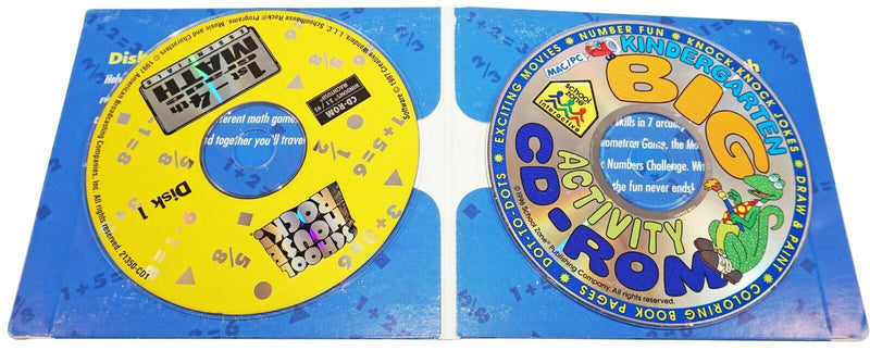 SCHOOL HOUSE ROCK 1ST-4TH GRADE - MATH ESSENTIALS PC CD-ROM FUN GAMES USED 1997