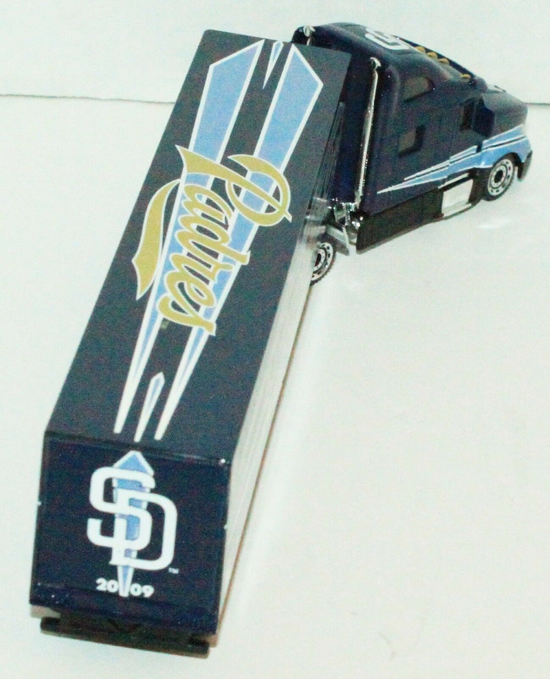 SAN DIEGO PADRES MLB BASEBALL 1:80 TRACTOR TRAILER TOY DIECAST SEMI TRUCK 2009 - EZ Monster Deals