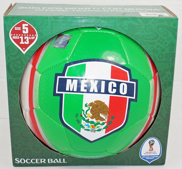 MEXICO COUNTRY FLAG FÚTBOL - OFFICIAL LICENSED FIFA 2018 SOCCER BALL SIZE 5 NEW-EZ Monster Deals