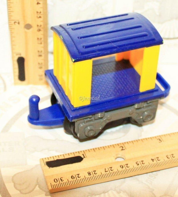 BLUE YELLOW OPEN TRAIL CAR VEHICLE ONLY FROM FISHER-PRICE GEOTRAX TRAIN 2006 - EZ Monster Deals