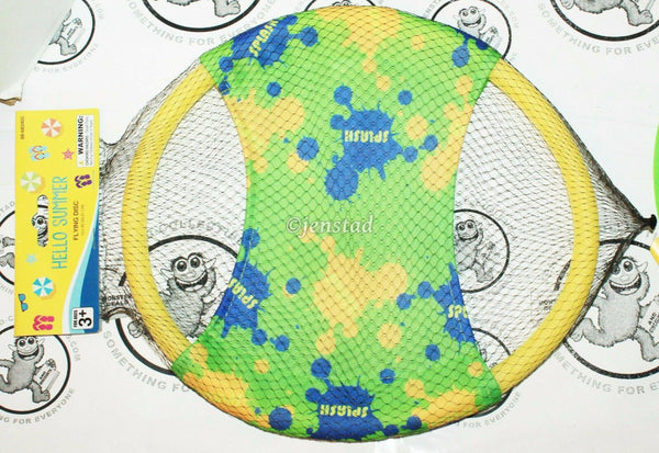 "GENERIC GREEN YELLOW BLUE FOAM FLYING 11"" DISC RING - FOR TOY FUN OUTDOORS NEW"