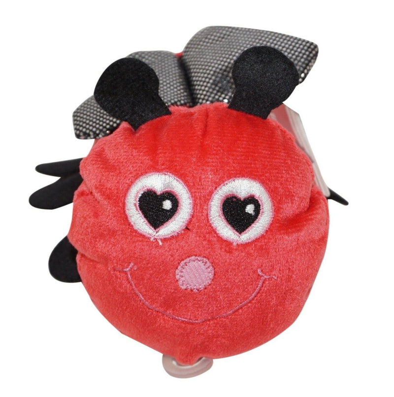 "RED LADY BUG PLUSH 5"" FIGURE - STUFFED TOY GENERIC USED - EZ Monster Deals"