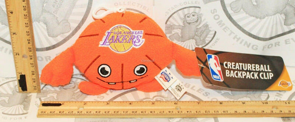"LOS ANGELES LA LAKERS NBA CREATURE PLUSH TOY 4"" FIGURE BALL BACKPACK CLIP 2013 - EZ Monster Deals"