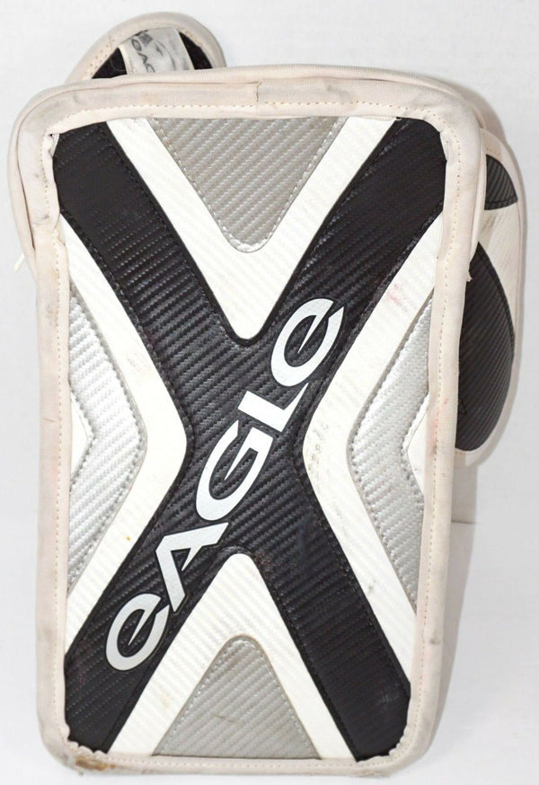 EAGLE INFINITY i JR - GOALIE BLOCKER JUNIOR GOAL ICE ROLLER HOCKEY WHT/BLK/SIL-EZ Monster Deals