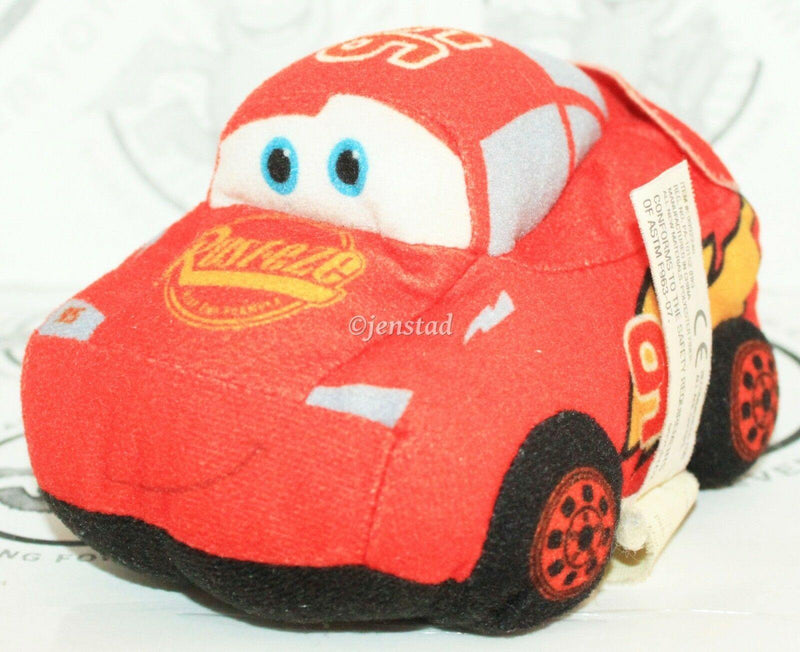 "CARS LIGHTNING MCQUEEN - SMALL PLUSH TOY FIGURE 5"" DISNEY PIXAR USED 2009 - EZ Monster Deals"