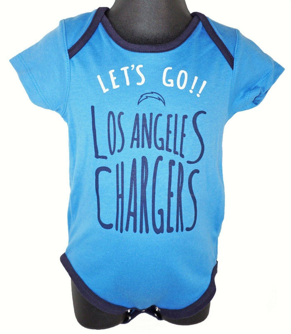 LOS ANGELES LA CHARGERS BABY SUIT - NFL 1-PC BLUE OUTFIT FOOTBALL 12 MTH NEW - EZ Monster Deals
