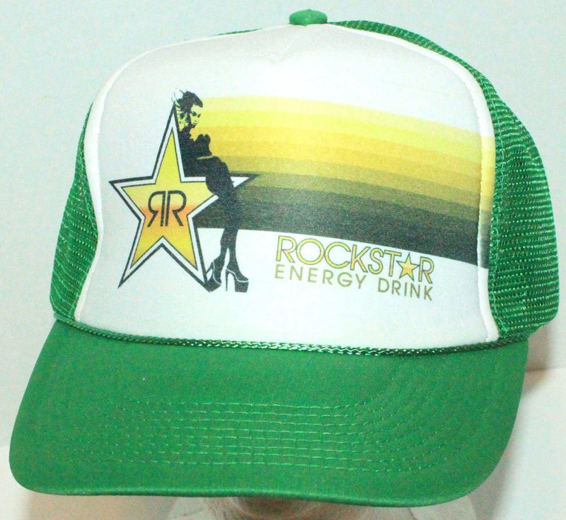 ROCKSTAR ENERGY DRINK - NISSUN TRUCKER SNAPBACK BASEBALL CAP HAT GREEN NEW - EZ Monster Deals