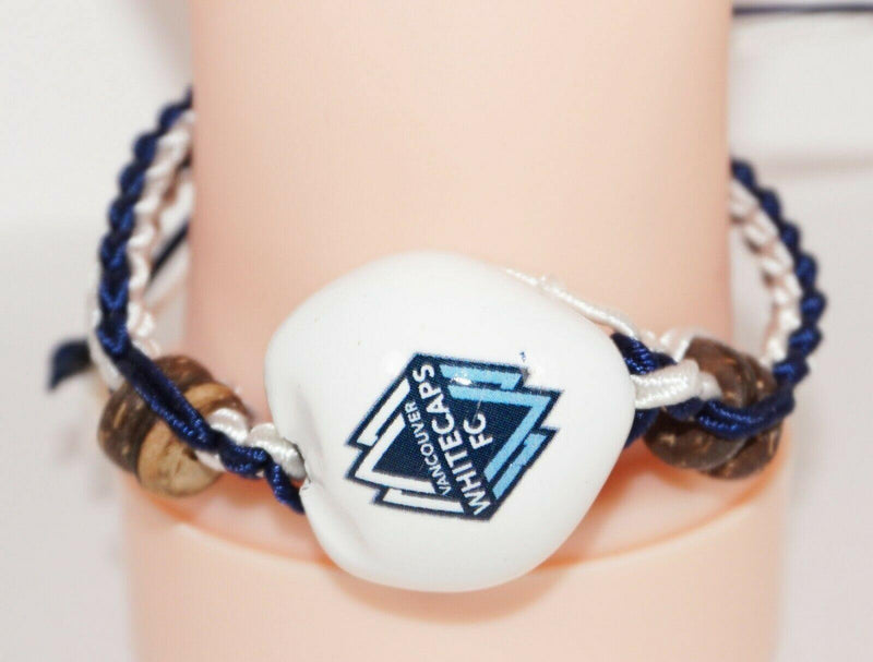 VANCOUVER WHITECAPS MLS - SINGLE KUKUI NUT + BRAID BRACELET SOCCER FUTBOL NEW - EZ Monster Deals