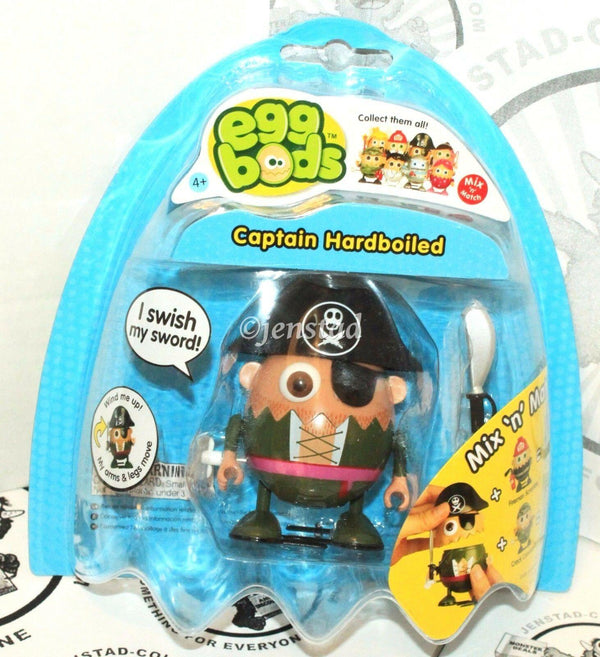 "EGGBODS CAPTAIN HARDBOILED - WIND-UP & WALKING TOY 3"" EGG FIGURE 2011 NEW - EZ Monster Deals"