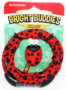 SCHWINN BRIGHT BUDDIES - RED LADYBUG THEME LED LIGHT & BIKE LOCK CHAIN NEW 2017 - EZ Monster Deals
