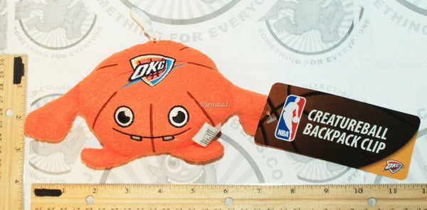 "OKLAHOMA CITY THUNDER OKC CREATURE NBA PLUSH TOY 4"" FIGURE BALL W/ CLIP 2013 NEW-EZ Monster Deals"