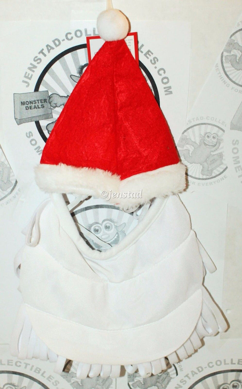 DOG XS/S SANTA RED HAT WHITE BEARD PET HOLIDAY CASUAL COSTUME CLOTHING XS/SMALL