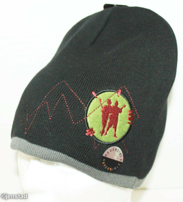 TENACIOUS D IN THE PICK OF DESTINY KNIT REVERSIBLE BEANIE CAP NWT BLK/GRAY 2006-EZ Monster Deals