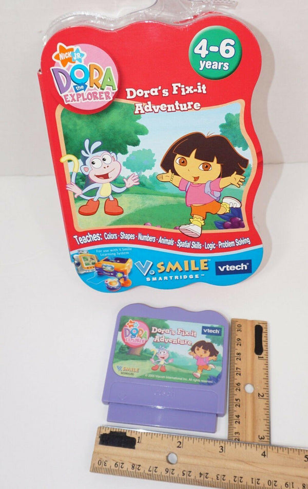 DORA THE EXPLORER - FIX-IT ADVENTURE VTECH V.SMILE EDU GAME CARTRIDGE USED 2005