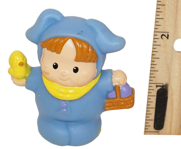"BOY BUNNY LITTLE PEOPLE - FISHER PRICE 2.25"" TOY EASTER FIGURE MATTEL USED 2002 - EZ Monster Deals"