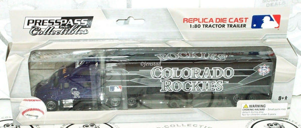 COLORADO ROCKIES MLB BASEBALL 1:80 DIECAST - TRUCK TRACTOR TRAILER TOY 2012 NEW