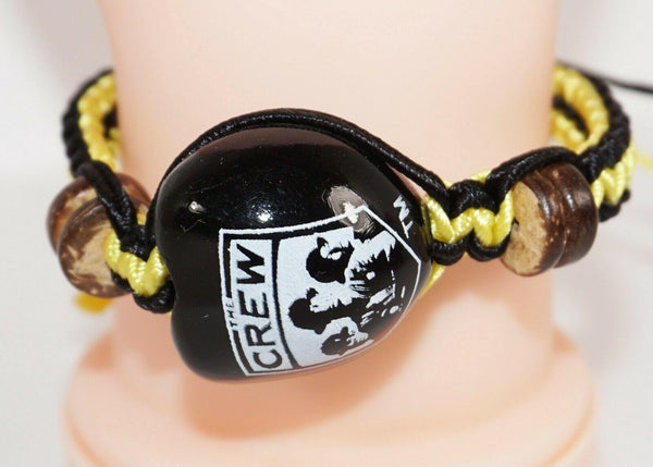 COLUMBUS CREW SC MLS - SINGLE KUKUI NUT + BRAID BRACELET SOCCER FUTBOL NEW - EZ Monster Deals