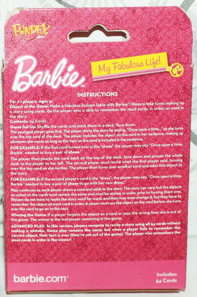 BARBIE MY FABULOUS LIFE - CREATE YOUR OWN FASHIONABLE STORY PLAYING CARDS 2012 - EZ Monster Deals