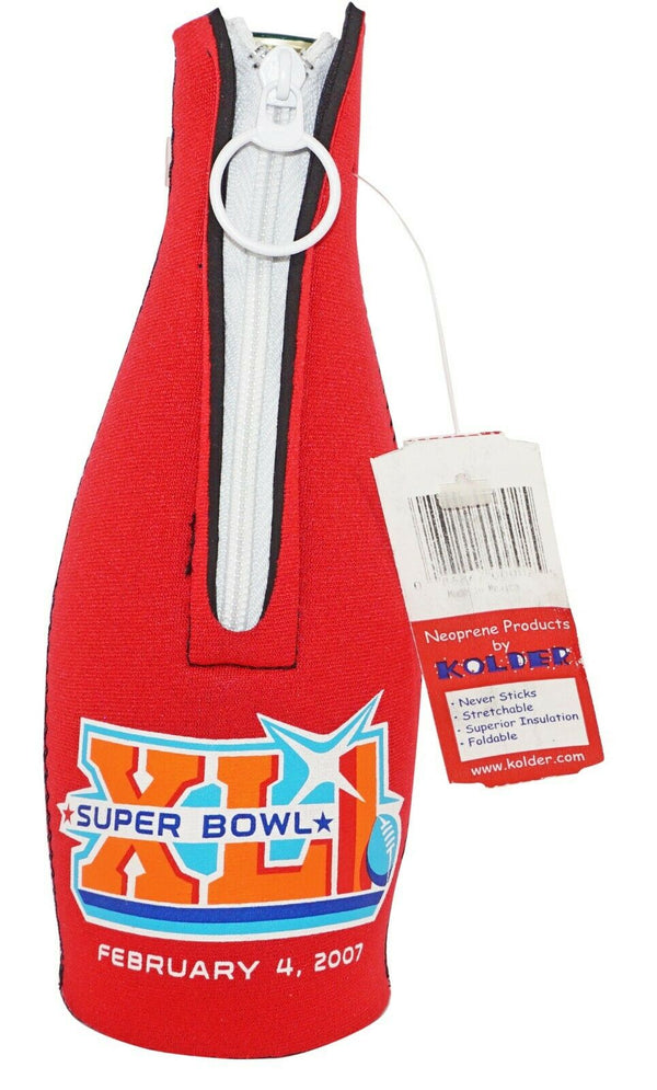 NFL FOOTBALL SUPERBOWL XLI FEB. 4, 2007 - NEOPRENE BOTTLE KOOZIE HOLDER OFFICIAL-EZ Monster Deals