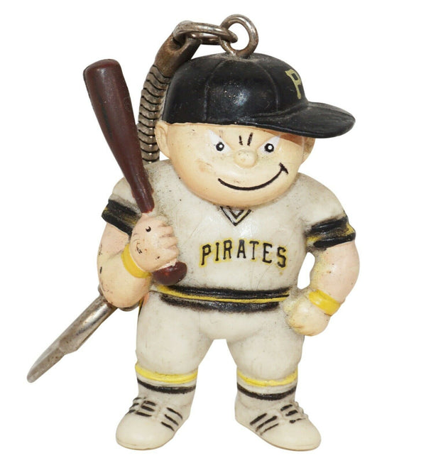 "LIL SPORTS BRAT PITTSBURGH PIRATES 1.75"" KEYCHAIN VINTAGE MLB BASEBALL USED 1986 - EZ Monster Deals"