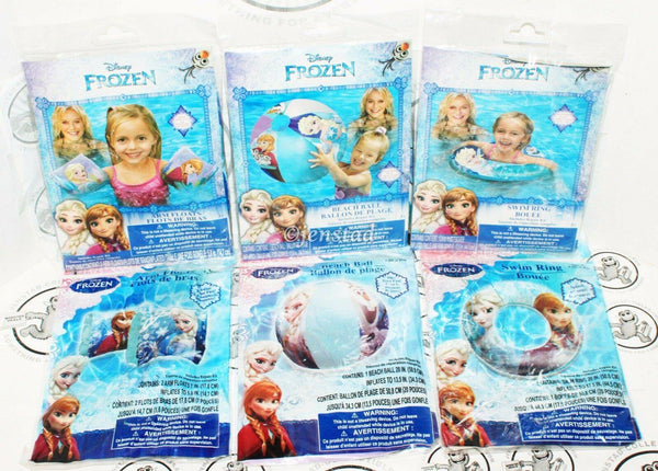 6 LOT - DISNEY FROZEN ELSA ANNA OLAF SWIM RING ARM FLOATS BEACH BALL FOR POOL - EZ Monster Deals