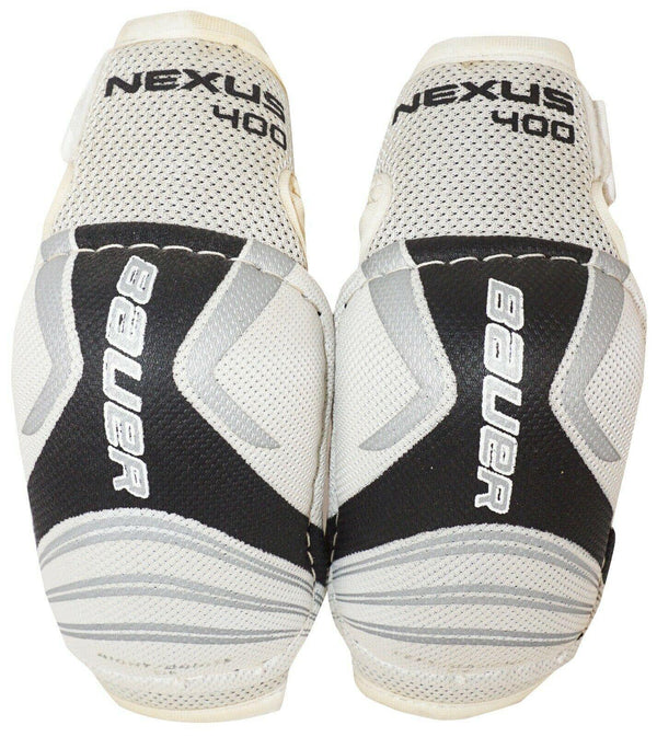BAUER NEXUS 400 JUNIOR SMALL KIDS ELBOW GUARD HOCKEY PADS USED VINTAGE 4'3-4'7""
