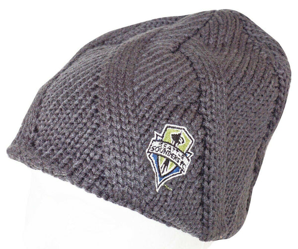 SEATTLE SOUNDERS FC MLS SOCCER - GRAY BEANIE CAP ONE SIZE NO CUFF NEW 2012 - EZ Monster Deals