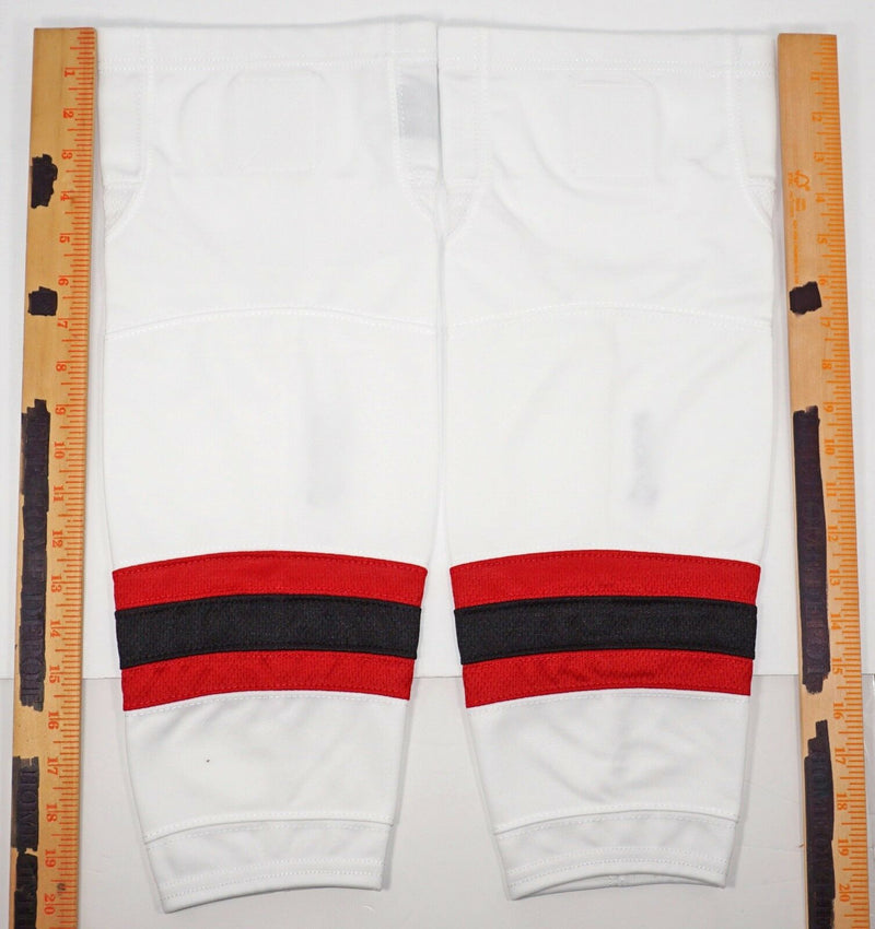 "FIRSTAR 21"" TYKE ICE HOCKEY STADIUM SOCKS PRO DESIGN - WHITE RED BLACK NEW"