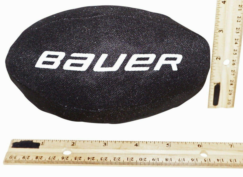 "BAUER HOCKEY - BLACK PROMO 6.5"" FOOTBALL SHAPED BALL NO BOUNCE NEW - EZ Monster Deals"