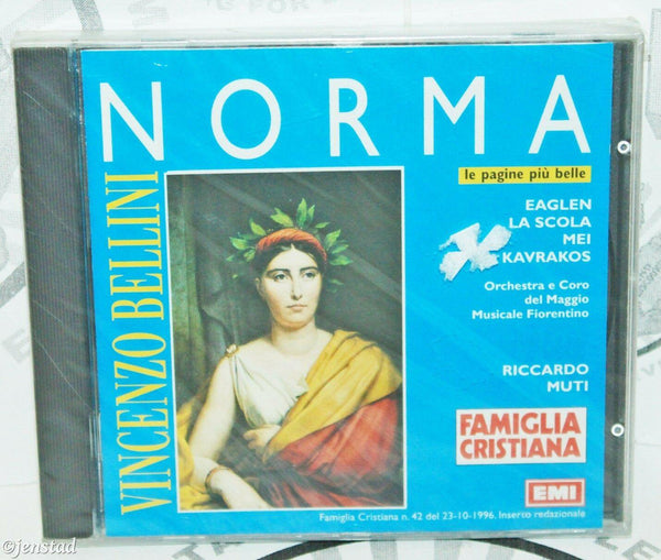 NORMA VINCENZO BELLINI LE PAGINE PIU BELLE FAMIGLIA MUSIC CD - ITALIAN VERSION - EZ Monster Deals